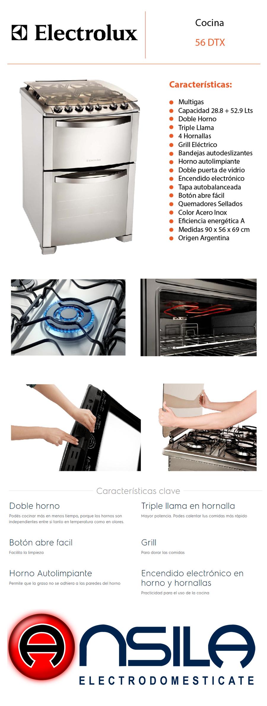 Cocina Electrolux SILVER